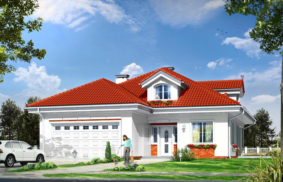 Проекты одноэтажных домов со встроенным гаражом