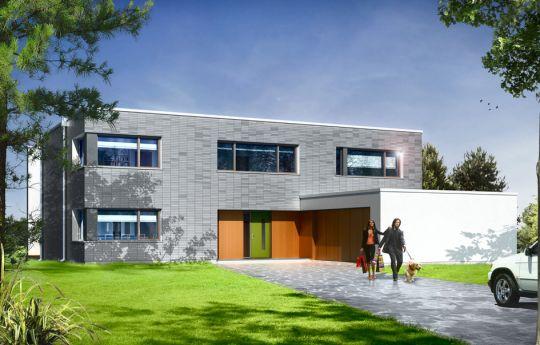 Projekt domu Villa Nova  - wizualizacja frontu