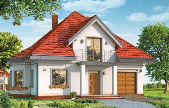 Проект дома Агатка - визуализация лицевого фасада