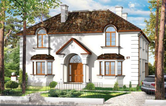 Проект дома Амбассадор 2 - визуализация лицевого фасада