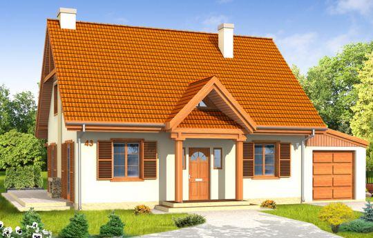 Проект дома Сказочный 2 - визуализация лицевого фасада