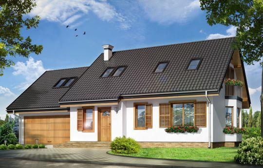 Проект дома Брыза 2 - визуализация лицевого фасада