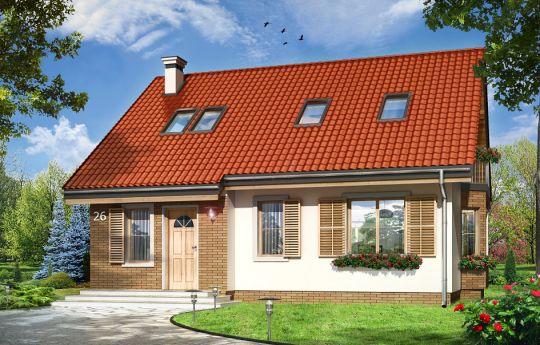 Projekt domu Bryza 3 - wizualizacja frontu