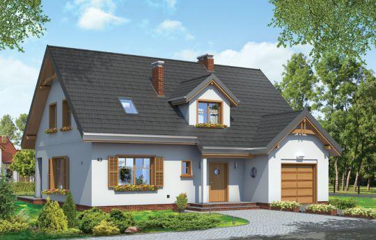 Проект дома Цукеречек - визуализация, вид спереди