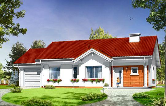 Проект дома Киприан 4 - визуализация, вид спереди