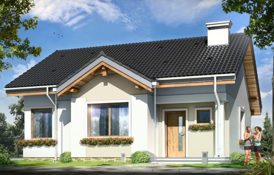 Проект дома Киприан - визуализация, вид спереди