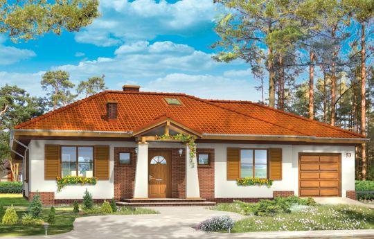 Проект дома Четыре угла 2 - визуализация, вид спереди