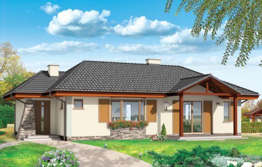 Проект дома D05 -- визуализация, вид спереди