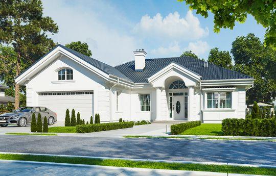Проект дома Dom na Parkowej - вид спереди