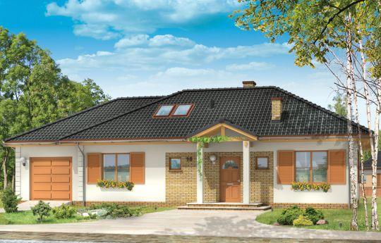 Проект дома Доминик 2 - визуализация, вид спереди