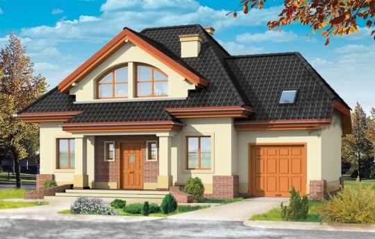 Проект дома Дом на Медаль 2 - визуализация, вид спереди