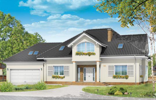 Проект дома Дом с Колоннами - визуализация, вид спереди