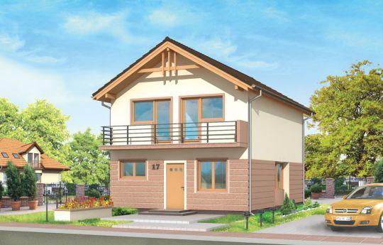 Projekt domu Dom z piętrem - wizualizacja frontu
