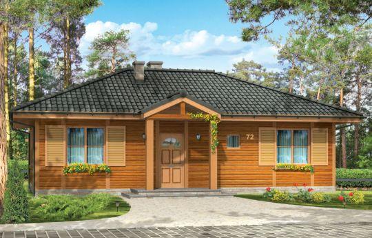 Проект дома Дудек - визуализация, вид спереди