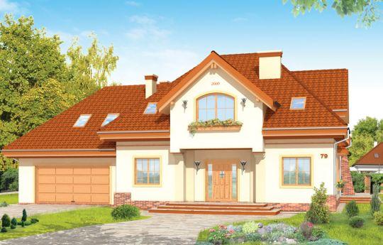Проект дома Эдита - визуализация, вид спереди