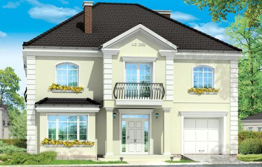 Проект дома Элегантный - визуализация, вид спереди