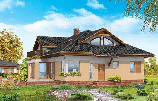 Проект дома Семейный 2 - визуализация, вид спереди