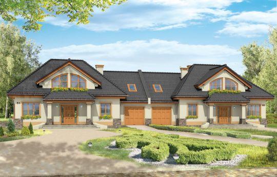 Projekt domu Faworyt 3 - wizualizacja frontu