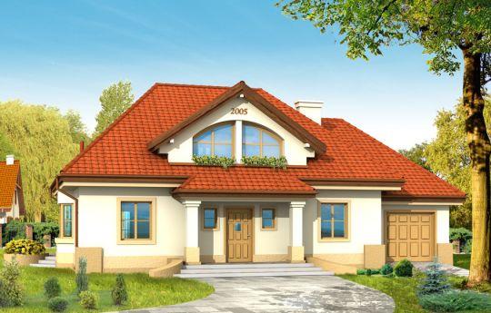 Projekt domu Faworyt - wizualizacja frontu