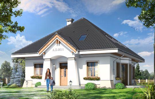 Проект дома Фигель - визуализация, вид спереди