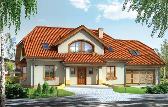 Проект дома Фокус 2 - визуализация, вид спереди