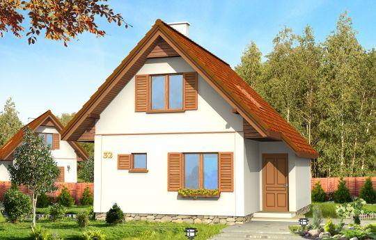 Проект дома Франчик - визуализация, вид спереди