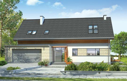Проект дома Гала  - визуализация, вид спереди