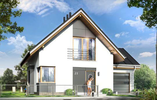 Проект дома Густав 2 -визуализация, вид спереди