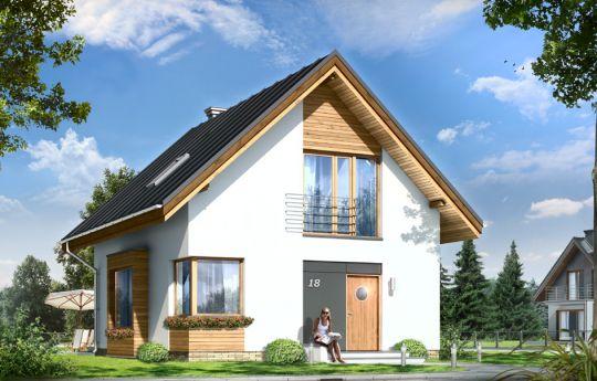 Проект дома Густав - визуализация, вид спереди