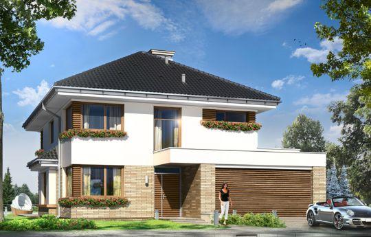 Проект дома Гелиос - визуализация, вид спереди