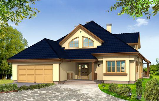 Проект дома Хорнувек - визуализация, вид спереди