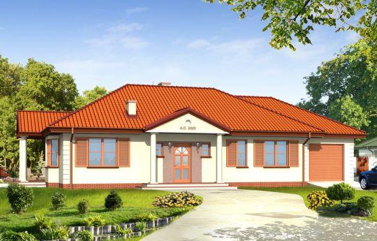 Projekt domu Jak Marzenie 3 - wizualizacja frontu