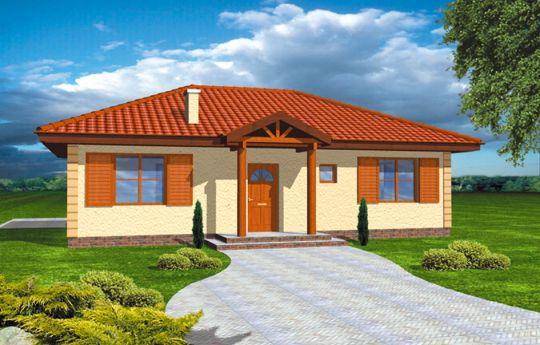 Projekt domu Jak Marzenie - wizualizacja frontu
