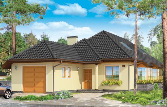 Projekt domu Jamnik 3 - wizualizacja frontu