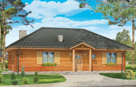 Проект дома Ласточка - визуализация, вид спереди