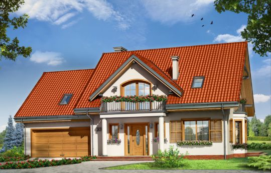 Проект дома Юлька 3 - визуализация, вид спереди