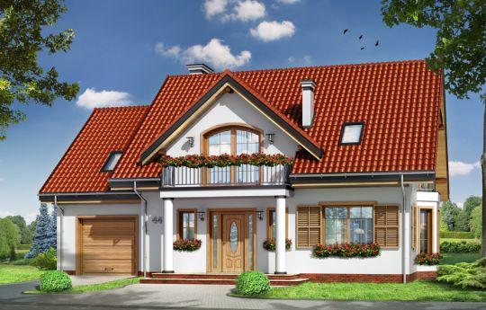 Проект дома Юлька 4 - визуализация, вид спереди