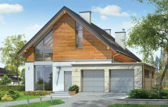 Projekt domu Jurajski - wizualizacja frontu