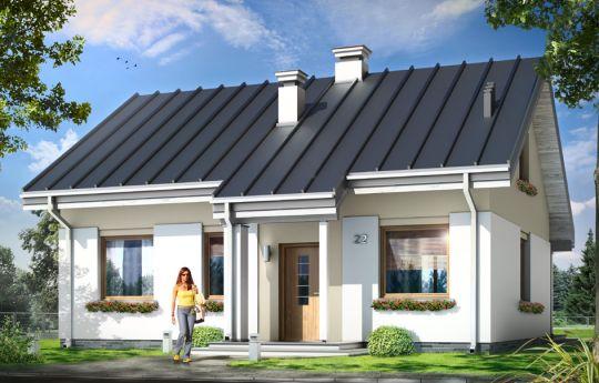 Проект дома Кайтек - визуализация, вид спереди
