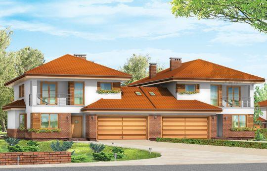 Projekt domu Kasjopea 2 - wizualizacja frontu