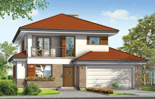 Projekt domu Kasjopea 3 - визуализация, вид спереди