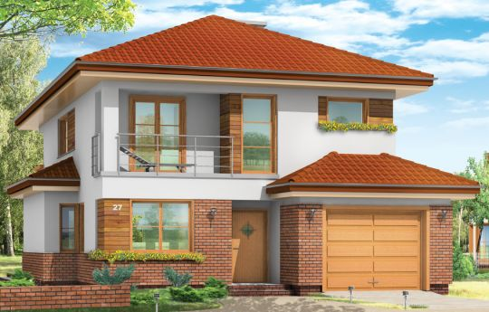 Проект дома Кассиопея - визуализация, вид спереди