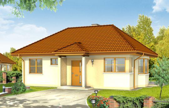 Проект дома Клейнот - визуализация, вид спереди