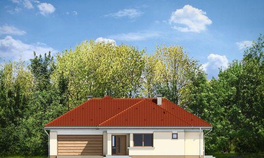 Проект дома Комфортный 3 вид спереди