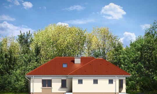 Проект дома Комфортный 3 вид сзади