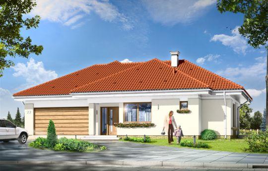 Проект дома Комфортный 3 - визуализация, вид спереди