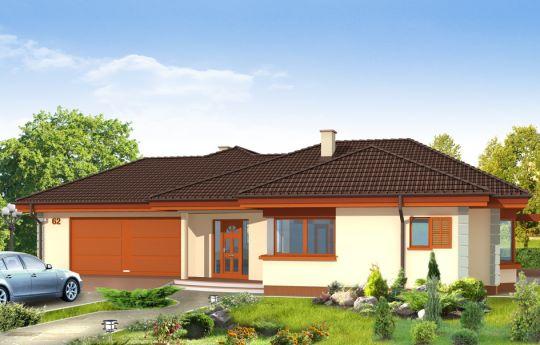 Projekt domu Komfortowy - wizualizacja frontu