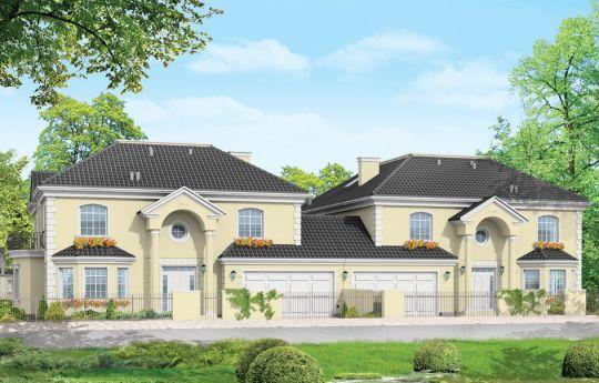 Проект дома Коморов - визуализация, вид спереди
