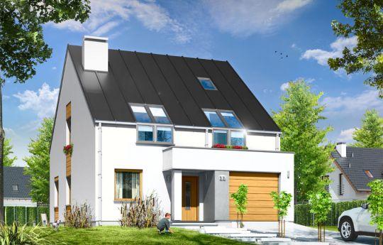 Projekt domu Leo - wizualizacja frontu