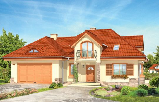 Проект дома Майя 2 - визуализация, вид спереди